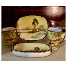 Nippon Van Patten #47 Two Trays & Two Cups