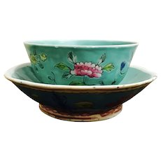 Republic Period Chinese Hand-Painted Bowls