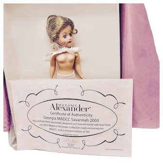 2003 Madame Alexander Limited Edition MADCC GEORGIA Doll
