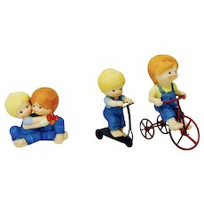 Enesco Figurine Katie & Scooter, Country Cousins