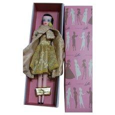 "LILLI LALKA Hong Kong 12"" Black hair American doll w box Gold outfit LOT Bild Lilli Clone"