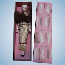 "LILLI LALKA Hong Kong 12"" Platinum braided hair American doll w box Gold suit fur LOT Bild Lilli Clone"