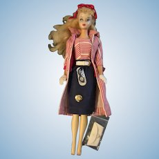 Vintage Ponytail Barbie #3 Roman HOliday in clear display case