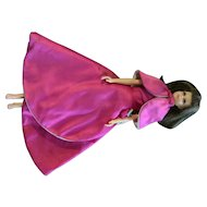 Rare Japanese exclusive Pink Satin Gown Shawl Cape and Bend Leg Francie Barbie