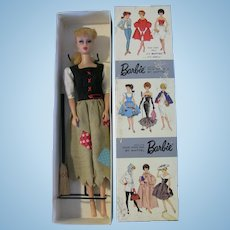 Vintage Blonde Ponytail Barbie Dressed Box Cinderella broom stand LOT