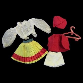 Vintage Small 7 1.2 inch Bild Lilli Genuine Original German doll Sweeden Clothes Outfit (NO DOLL)
