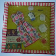 Vintage Mattel Barbie and Midge 1628 Brunch Time Clothing Set in Original 1960s Cello Box