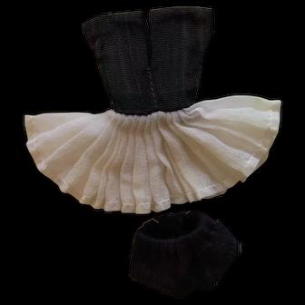 VTG Small 7 1.2 inch Bild Lilli Genuine Original Tennis outfit Black panties LOT