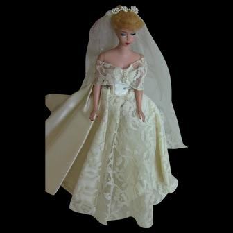VTG HTF Halina's Fashion of Chicago Doll Wedding Gown Veil Ponytail Barbie LOT