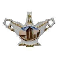 Souvenir Vase Masonic Temple Chicago built 1892