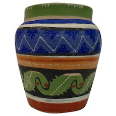 Small Mexican Pottery Vase Hand Painted Details