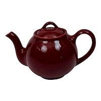 Lipton's Teapot Promotional Premium Maroon Burgundy Older Version Hall China