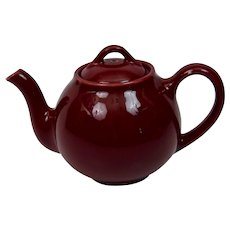 Lipton's Teapot Promotional Premium Maroon Burgundy Older Version Hall China