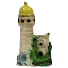 Carnival Circus Chalk Ware Art Lighthouse Form C.1930's