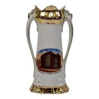Souvenir Vase New Masonic Temple Omaha Nebraska