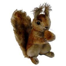 Steiff Possy Squirrel Acorn Mohair Animal Figure Paper Tag