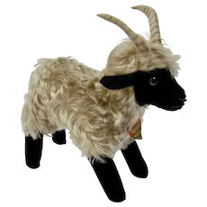 Steiff Snucki Mohair Mountain Goat Animal Figure Paper Tag