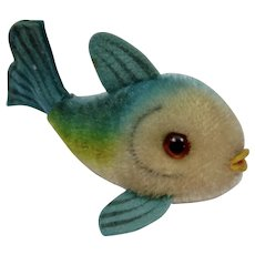 Steiff Flossy Fish Mohair Animal Figure Paper Tag
