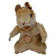 Steiff Goldy Hamster Mohair Animal Figure Paper Tag