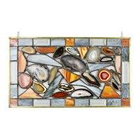Agate Leaded Glass Window Hanging Panel Karen Brzys Artist Title Energy