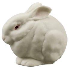 """Rabbit Figurine """"Mr Snowball"""" Cybis Porcelain Manufacturer New Jersey USA"""
