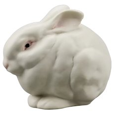 "Rabbit Figurine ""Mr Snowball"" Cybis Porcelain Manufacturer New Jersey USA"