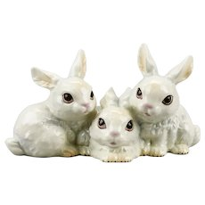 Trio Of Rabbits Figurine Goebel Manufacturer West Germany