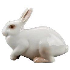 Rabbit Figurine B&G Bing And Grondahl Porcelain Manufacturer Copenhagen Denmark
