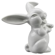 Laughing Rabbit Figurine Rosenthal Porcelain Manufacturer Germany Designed By Max Fritz
