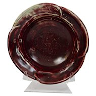 John Glick Plum Tree Pottery Porcelain Bowl Burgundy Glaze Signed