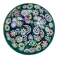 Peter McDougall End Of Day Style Paperweight Close Packed Scattered Millefiori Canes PMcD Studio Ltd. Crieff Scotland
