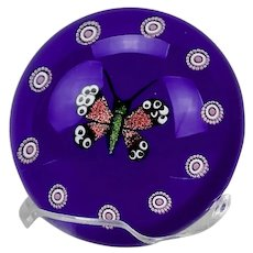 William Manson Butterfly Lamp Work Paperweight Limited Edition 35/50 2003
