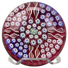 John Deacons Paperweight Millefiori Spiral Canes Hand Made In Scotland