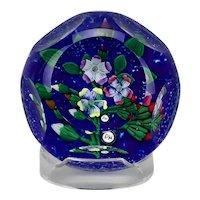 Peter Holmes Paperweight Floral Lamp Work Motif Selkirk Glass Scottish Borders 2003
