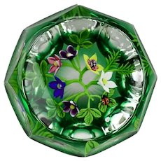 William Manson Floral Lamp Work Faceted Large Paperweight Limited Edition 10/10 2003