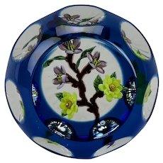 William Manson Floral Lamp Work Faceted Large Paperweight Limited Edition 5/5 2003