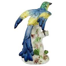 Porcelain de Paris Bird Figurine Modeled By Bourdois & Achille Bloch Early 20th Century Vibrant Polychrome Colors