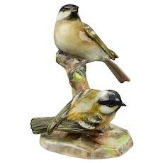 Cole Tits Birds Figurine 3376 Royal Worcester England