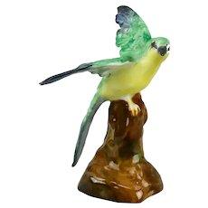 Bird Figurine Crown Staffordshire China England Hand Painted