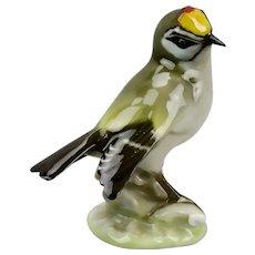 Finch Bird Figurine Hutschenreuther Porcelain Germany Karl Tutter