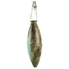 Ed Gray Giant Seed Pod Hanging Vessel Dragonflies Bears Turtles Otters Hand Carved Details Smoke Fired Pottery Signed Jikiwe 2006 Calumet