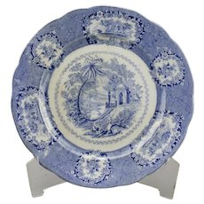 Blue Transfer Ware Dinner Plate Oriental Pattern Ridgways English Ironstone