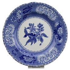 Spode's Camilla Pattern Copeland England Blue Transfer Ware Small Plate c.1941