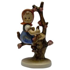 M. J. Hummel Goebel Figurine Girl in Apple Tree