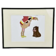 Cartoon Production Cel Injun Joe And Scared Bear Looney Tunes Merrie Melodies