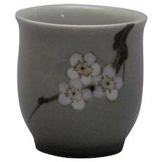 B & G Apple Blossoms Branch Miniature Vase Bing and Grondahl Kjobenhavn Denmark