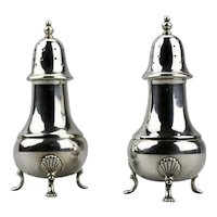 Sterling Silver Salt And Pepper Shakers Traditional Style Pattern 248 Wallace Silver Co. Pair