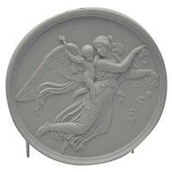 Bisque Parian Porcelain Plaque Bing and Grondahl Angel Cherub