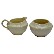 Belleek Ireland Creamer and Sugar Bowl Shell Pattern