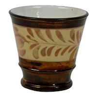 Copper Luster Beaker Cup English Victorian